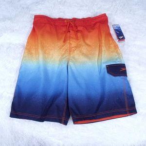 Speedo Electric Orange Swim Trunks